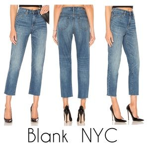 NWT Blank NYC Madison straight leg crop high rise